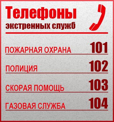 Единые телефоны экстренных служб