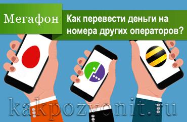 Как перевести деньги с Мегафона на МТС, Билайн, Теле2, Ростелеком, Йота, Мотив и др.