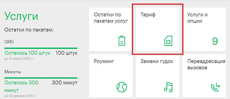 Как узнать свой тариф в Личном кабинете Мегафон